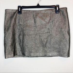 Haute Hippie Bronze Leather Lambskin Mini Skirt